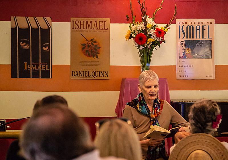 Rennie MacKay Quinn reading at Daniel's memorial